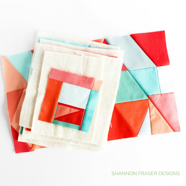 Modern Mini Improv Quilts | Shannon Fraser Designs | Modern Quilting | Color | Kona Cotton | Solids Quilt | Improv Quilting