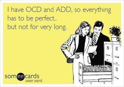 Funny OCD ADD Joke Image Card