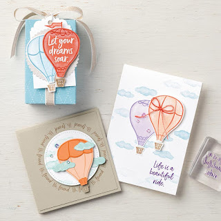 Stampin' Up! Above the Clouds Hot Air Balloon Projects ~ 2019-2020 Annual Catalog  #stampinup