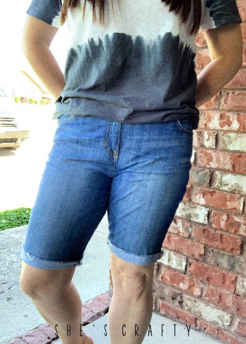 How to get the perfect long denim shorts.