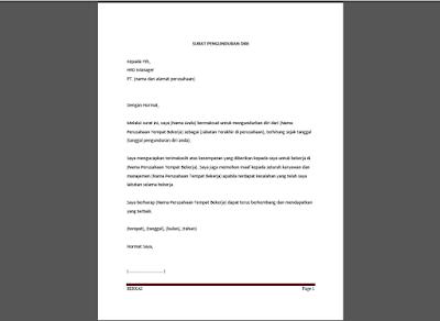 surat pemutusan hubungan kerja
