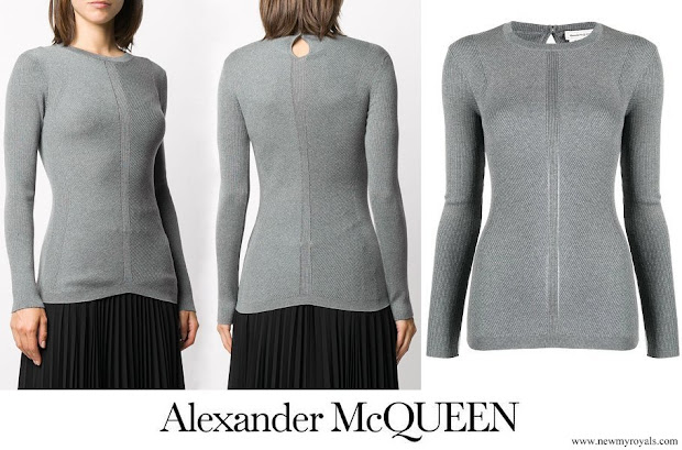 Kate Middleton wore Alexander McQueen fine ribbed knit top