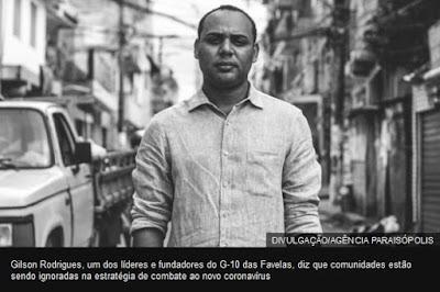 Gilson Rodrigues, líder de Paraisópolis,