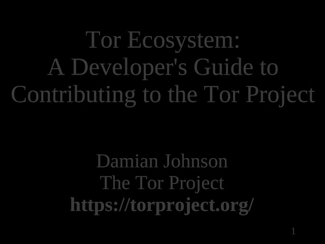 Tor ecosystem - A developers guide Download eBook