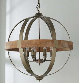 New Home Lighting Options-Globe Chandelier-Dining Room-Farmhouse-Modern-Industrail-From My Front Porch To Yours