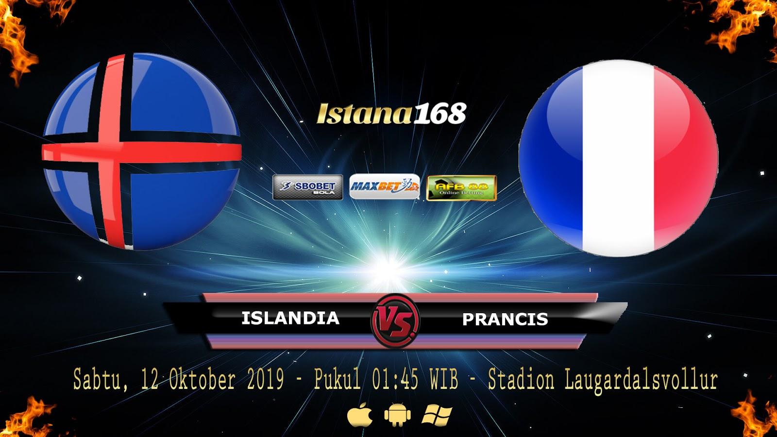 Prediksi Islandia vs Prancis 12 Oktober 2019