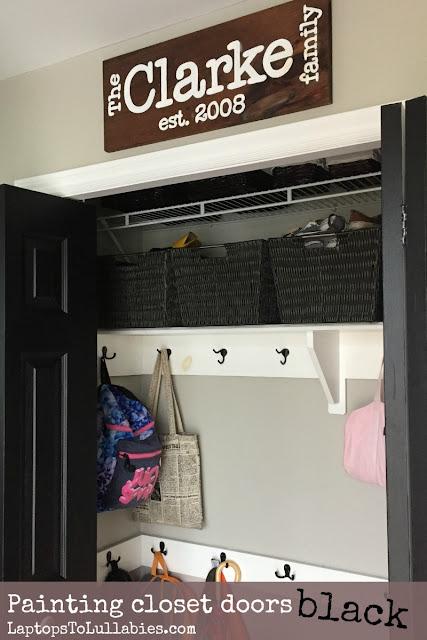 Painting closet doors black
