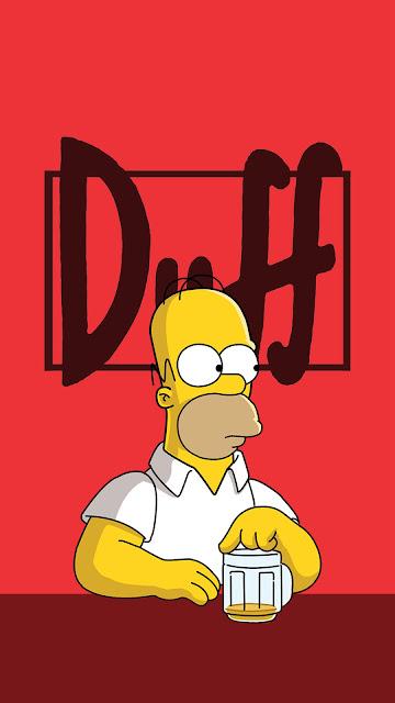 Homer Cerveja Duff Para Plano De Fundo