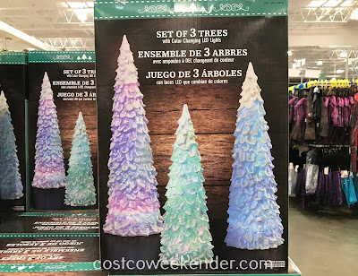 Start your holiday decorating on the right foot with the LED Color Changing Trees