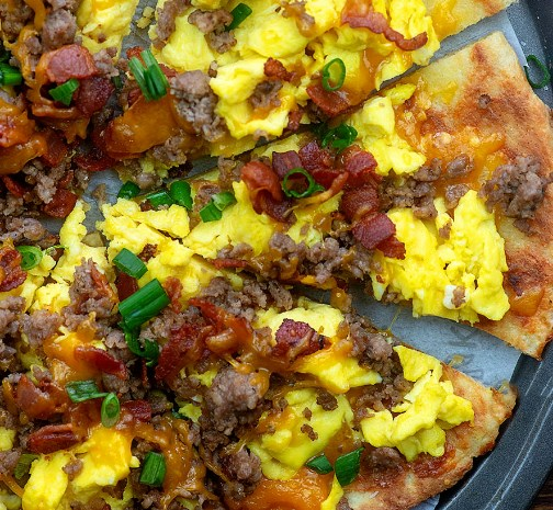 MEAT LOVERS BREAKFAST PIZZA #lowcarb #healthy