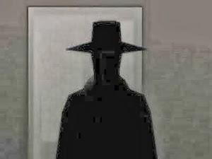 Hombre vestido de negro sueno