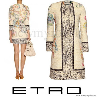 Crown Princess Mary wore Etro Paisley Print Tweed Coat