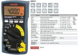 Jual Multimeter Digital Sanwa Cd771 Harga Murah