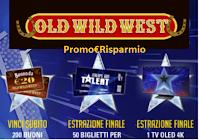 Logo Concorso ''Vinci Italia's Got Talent con Old Wild West'' : vinci 200 buoni, TV Oled e non solo
