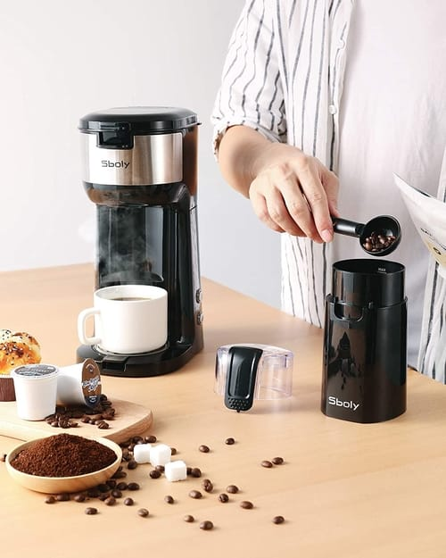 Sboly Coffee Maker with Grinder