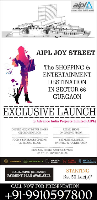 AIPL Joy Street Gurgaon, New launch commercial sec 66 gurgaon, upcoming high street market gurgaon, new launch high street market gurgaon, new launch sector 66 gurgaon, new commercial on golf course extn gurgaon, golf course extn sector 66 commercial project gurgaon