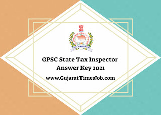 GPSC State Tax Inspector Answer Key 2021 Declare