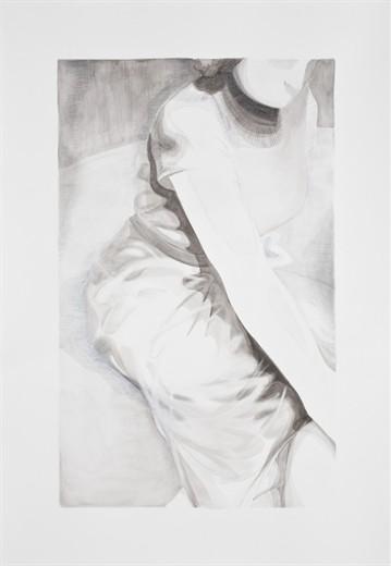 Marijn Akkermans  The Pose, 2012 ink and pencil on paper 154 x 107,5 cm