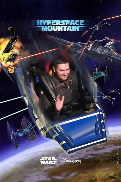 Man smiling on a ride souvenir photo