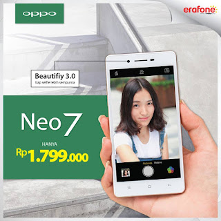 Harga Baru OPPO Neo 7 Smartphone Android 5 inch Murah Rp 1 Jutaan