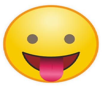 Emoticon WA Mengejek Lidah Keluar