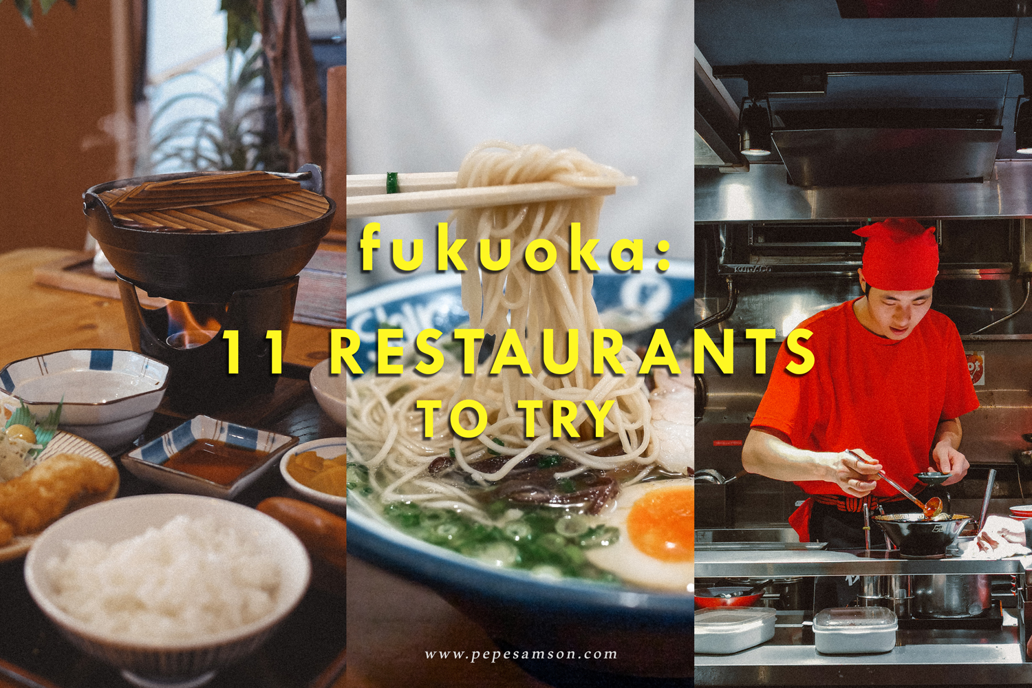 Fukuoka Food Trip: 11 Restaurants to Try