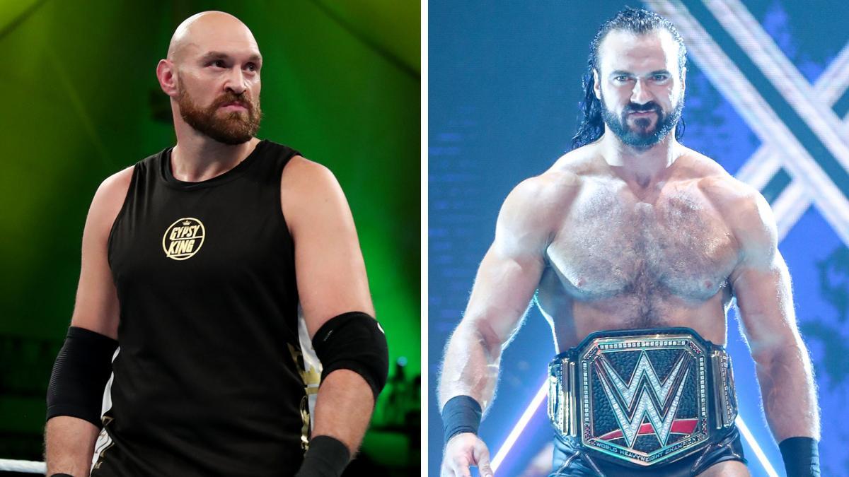 WWE não descartou combate de Drew McIntyre com Tyson Fury na WrestleMania 37