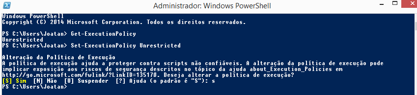 Powershell ExecutionPolicy Unrestricted