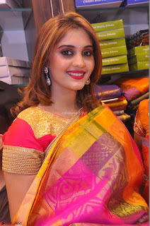 Surabhi looks stunning in Saree at Nakshatra Fashion Store Launch at Suchitra X Road 25.JPG