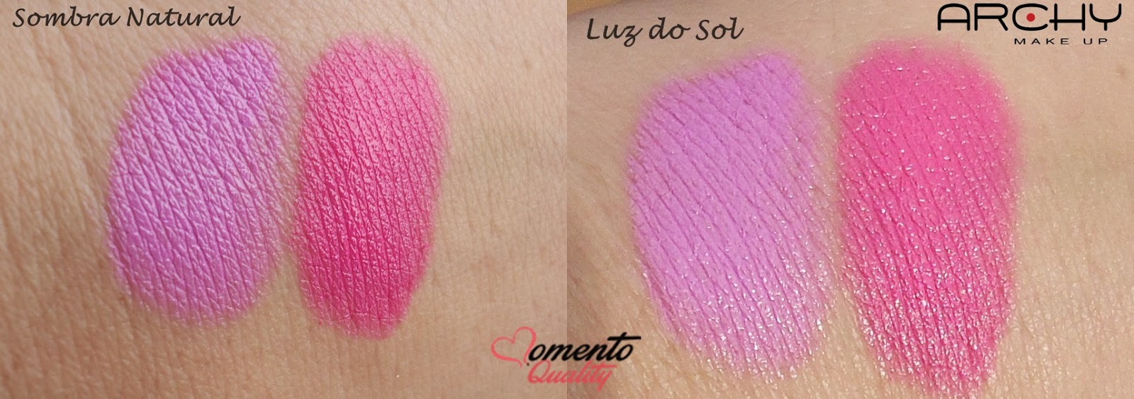 Batom Archy Make Up Swatches Sombra Momento Quality