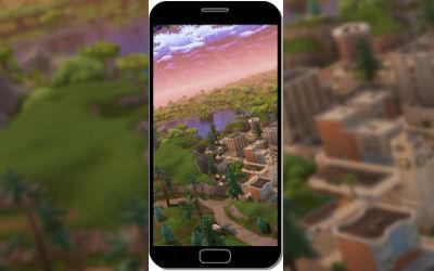 Fortnite Battle Royale Belle Vue de Dessus - Fond d'Écran en FHD pour Mobile