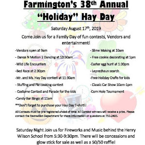 Complete #FarmingtonNH Hay Day Schedule