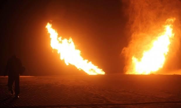 تفجير خط الغاز الرابط بين مصر واسرائيل في شمال سيناء