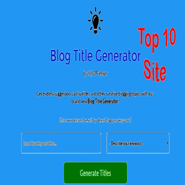 Free Blog Title Generator