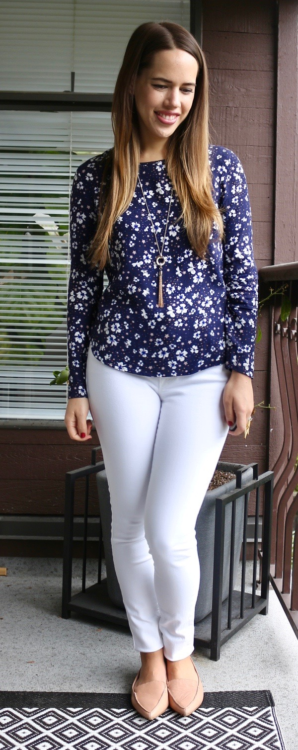 Jules in Flats - Old Navy Built-in Sculpt White Skinny Jeans