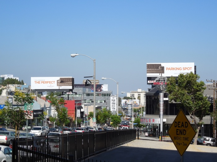 Perfect Parking Spot JC P sofa billboards Sunset Strip
