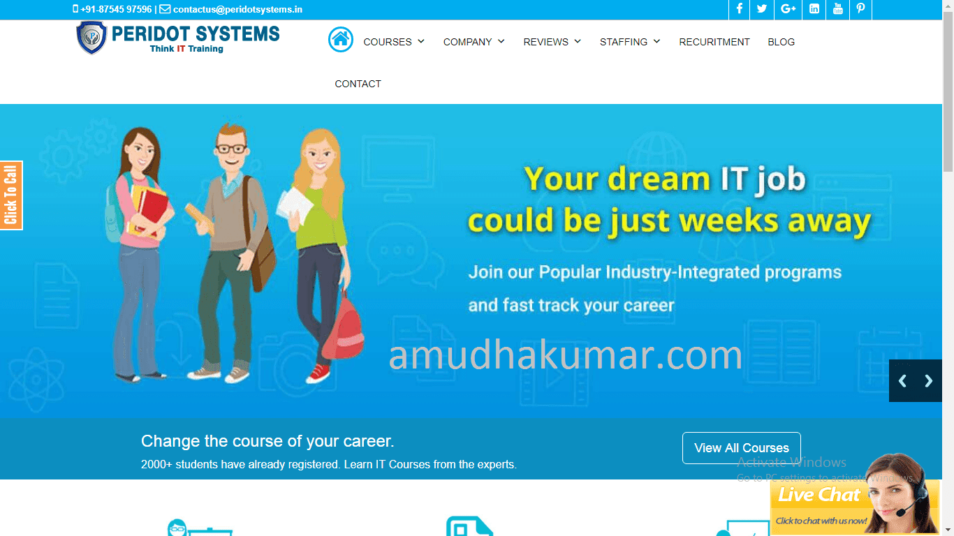 Peridot Systems Digital Marketing Training Institute in Chennai