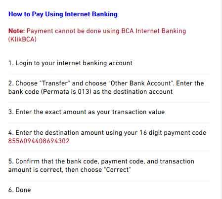 cara membayar anggaran biaya iklan facebook dengan internet banking