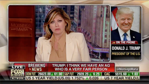 Donald Trump called into Fox Business News to chat with Maria Bartiromo, but things quickly devolved into just one long rant.