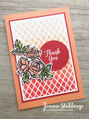 Jo's Stamping Spot - ESAD 2018 Annual Catalogue Launch Blog Hop using Grapefruit Grove and Delightfully Detailed DSP by Stampin' Up!