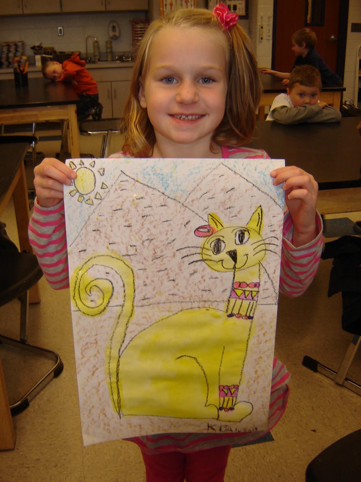 Jamestown Elementary Art Blog Kindergarten Egyptian Cats