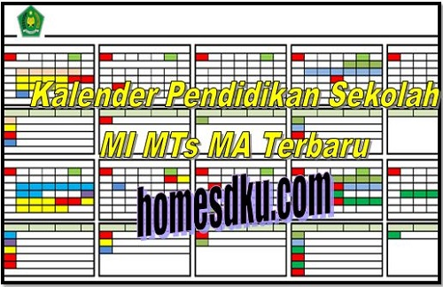 Kalender Pendidikan Sekolah MI MTs MA Terbaru