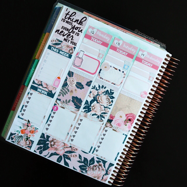 Glam Planner Wedding Kit - Erin Condren Weekly Spread - Tori's Pretty Things Blog