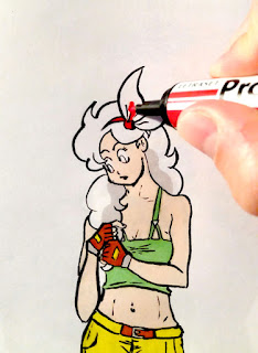 Dragon Ball - Lunch - mise en couleur aux promarkers (2)