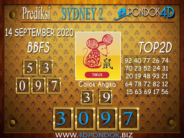 Prediksi Togel SYDNEY 2 PONDOK4D 14 SEPTEMBER 2020