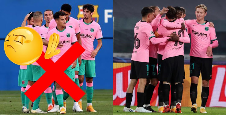 barca players club forced nike to change 20 21 third kit combination footy headlines nike to change 20 21 third kit