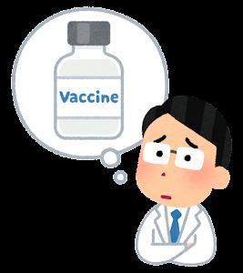 ワクチンの心配をする人のイラスト(白衣の男性)