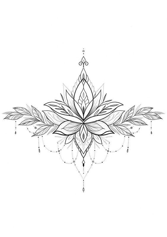 gambar tato bunga
