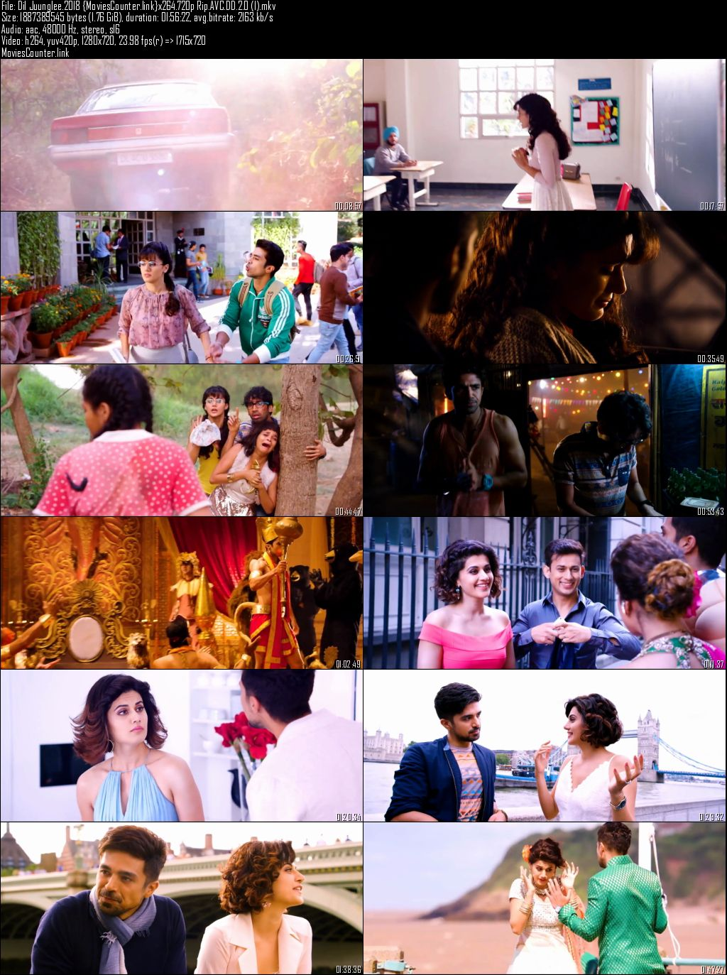 Screen Shot Dil Juunglee 2018 Hindi HD 720p