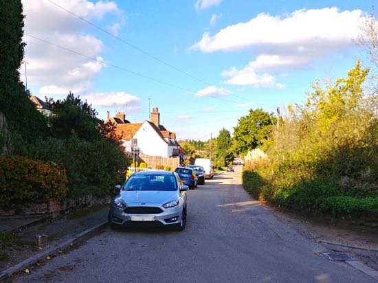 Photograph of Bell Lane, Bell Bar, October 2018 Image by the North Mymms History Project, released under Creative Commons